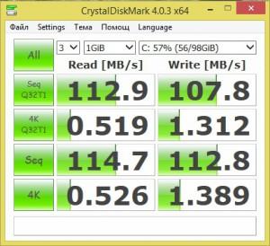 WDC  WD10JPVX CrystalDiskMark