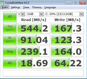 SSD CrystalDiskMark